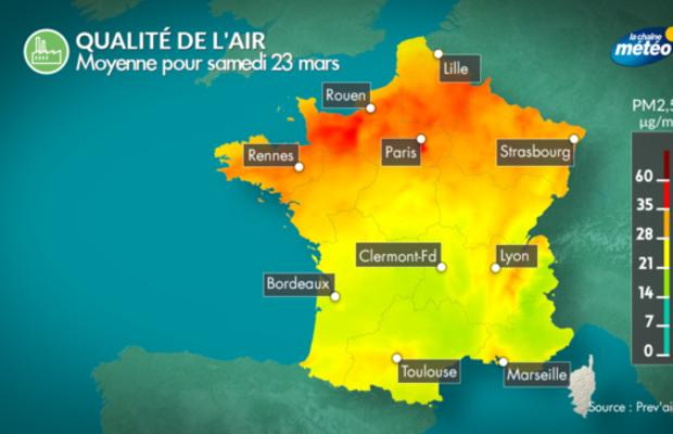 Episode de pollution dans le nord de la France